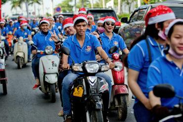 Kambodscha: Rollende Nikoläuse (Preah Sisowat Quay, Phnom Penh)