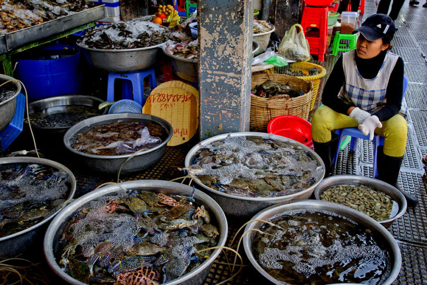 Kambodscha: Phsar Thmei – Fischmarkt (Central Market, Daun Penh District, Phnom Penh)