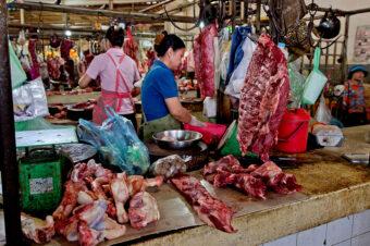 Kambodscha: Phsar Thmei – Fleisch und Exotisches (Central Market, Daun Penh District, Phnom Penh)