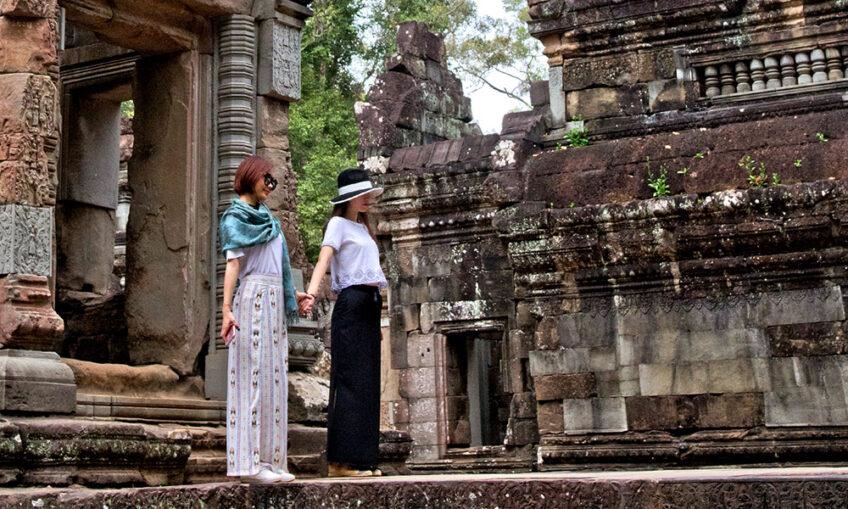 Kambodscha: Die Selfie Girls von Angkor Wat